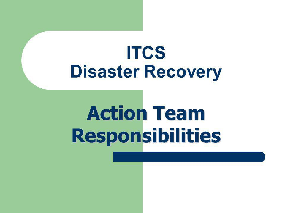 ITCS Disaster Recovery