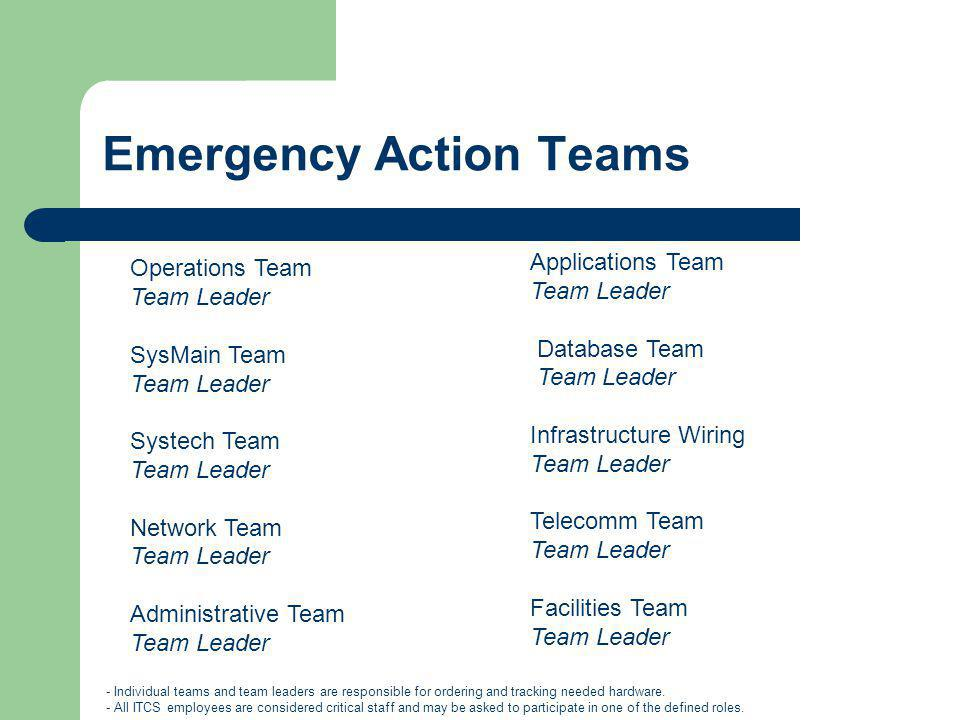 Emergency Action Teams