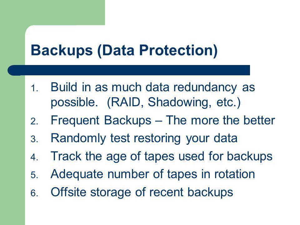 Backups (Data Protection)