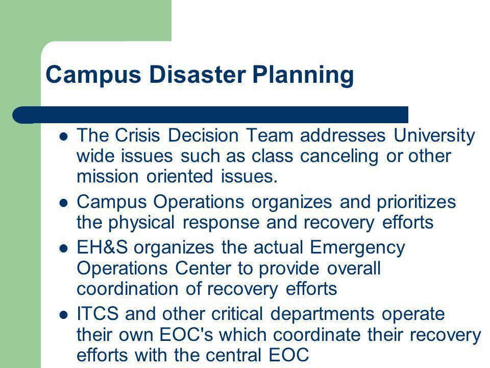 Campus Disaster Planning