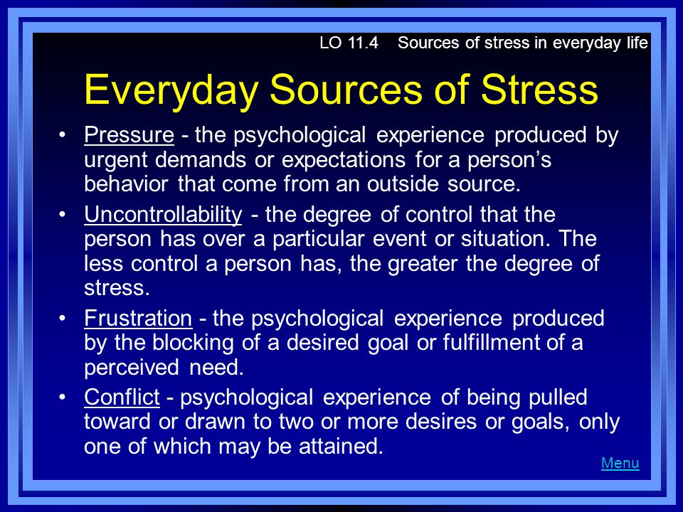 Everyday Sources of Stress