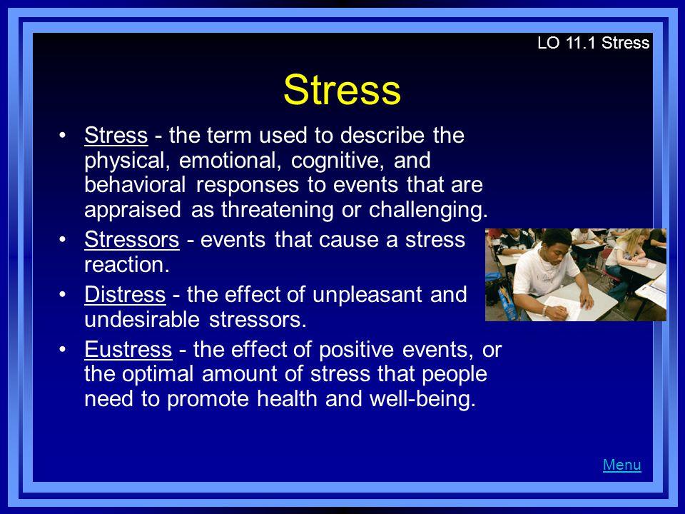 LO 11.1 Stress Stress.