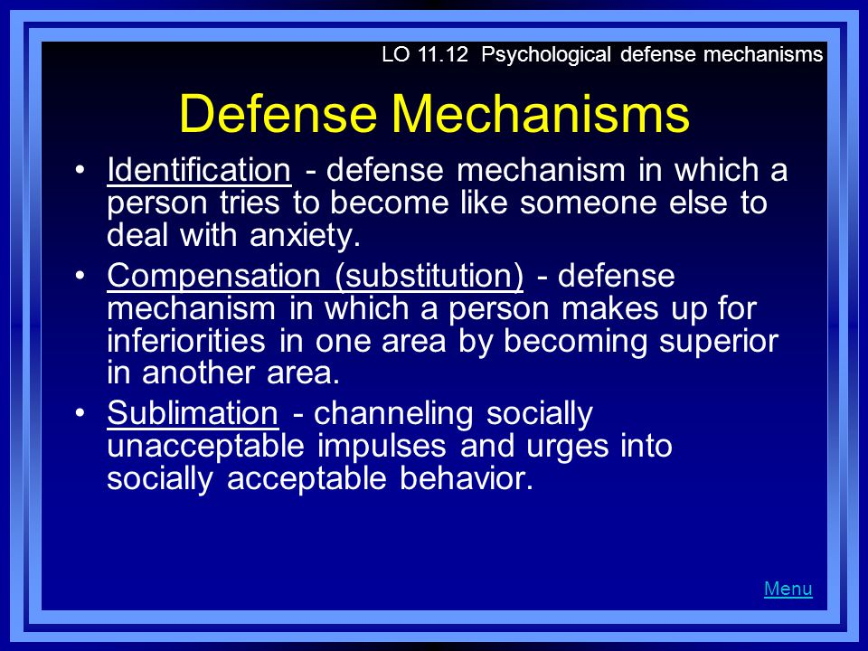 LO Psychological defense mechanisms