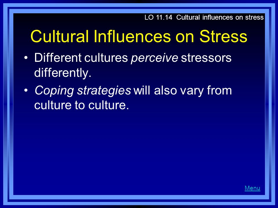 Cultural Influences on Stress