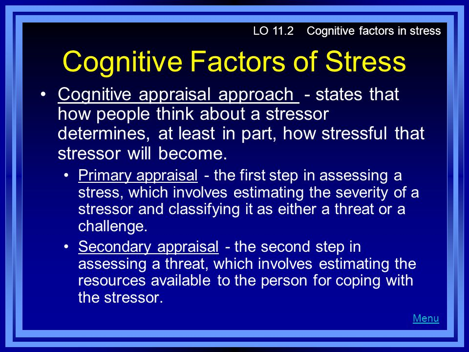Cognitive Factors of Stress