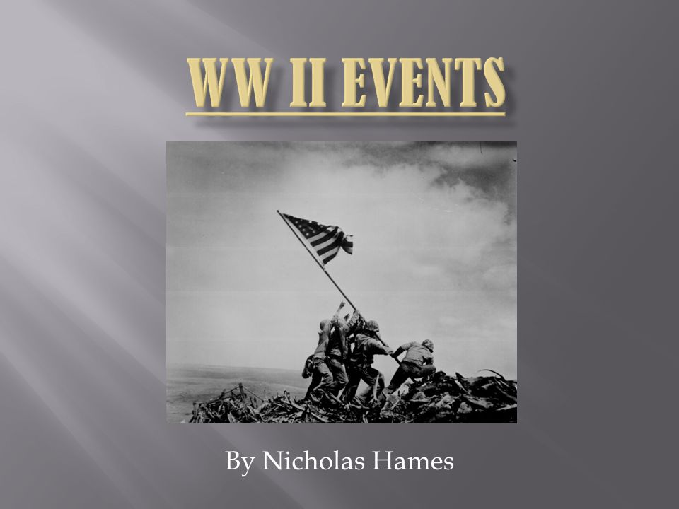 WW II EVENTS By Nicholas Hames
