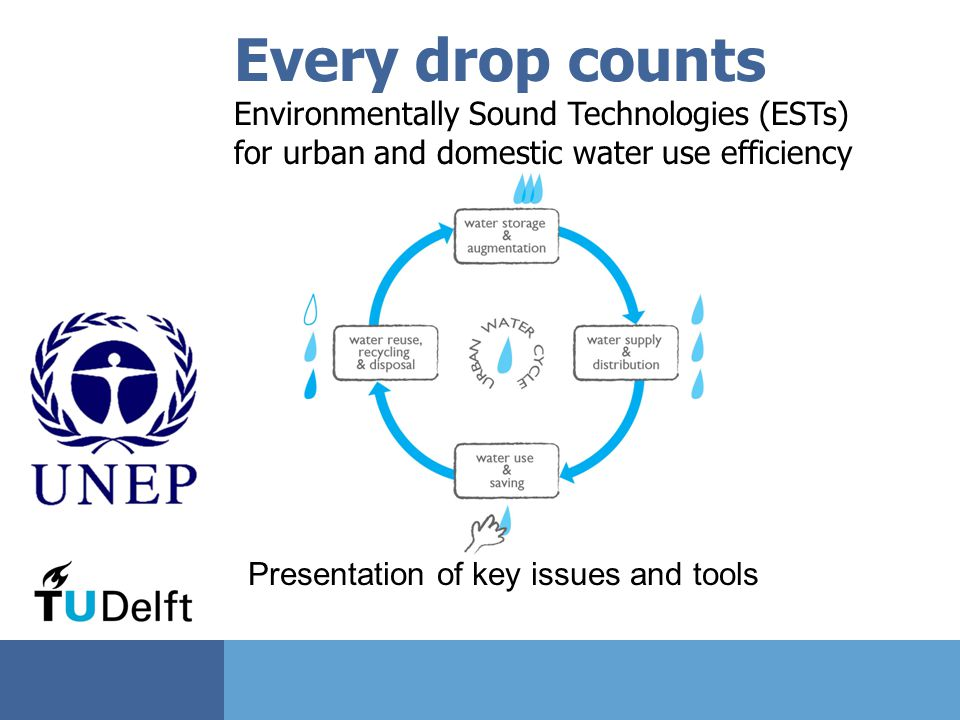 Every drop counts Environmentally Sound Technologies (ESTs)
