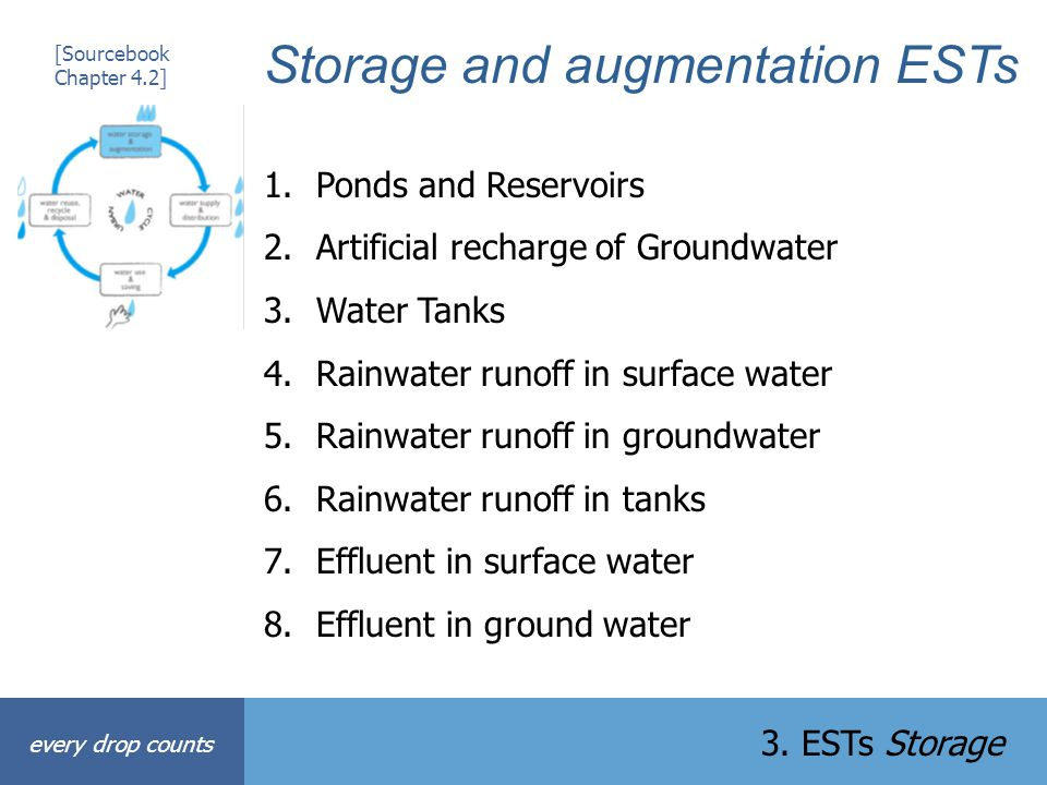 Storage and augmentation ESTs