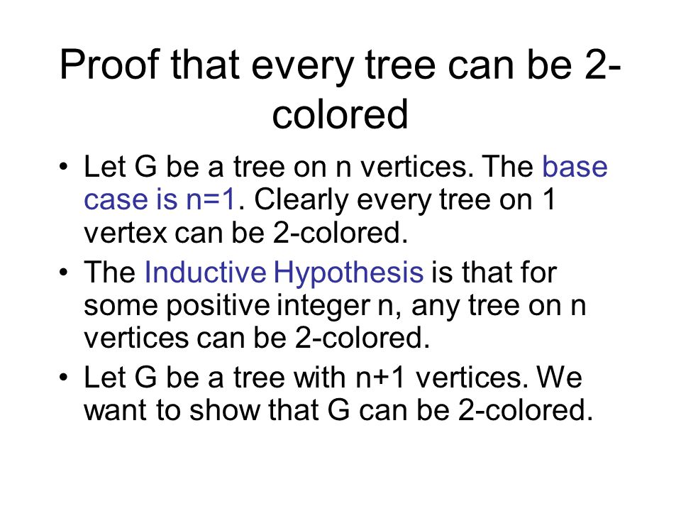 Proof that every tree can be 2-colored