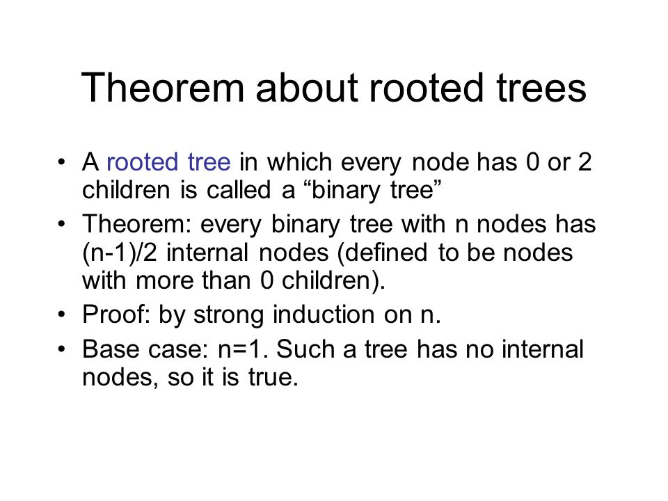 Theorem about rooted trees