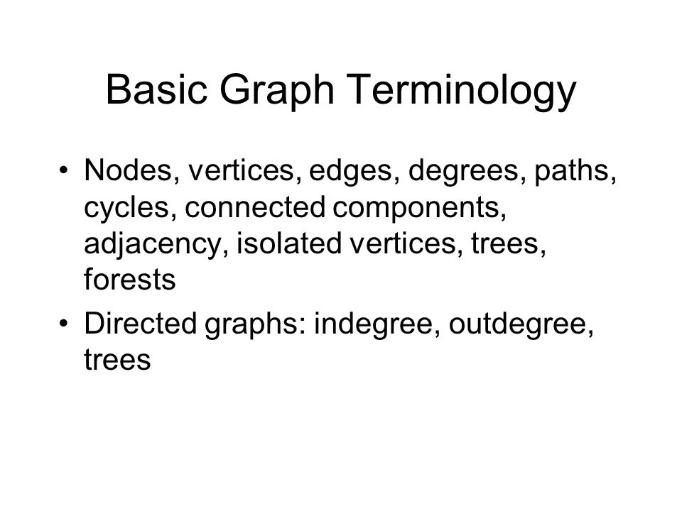Basic Graph Terminology
