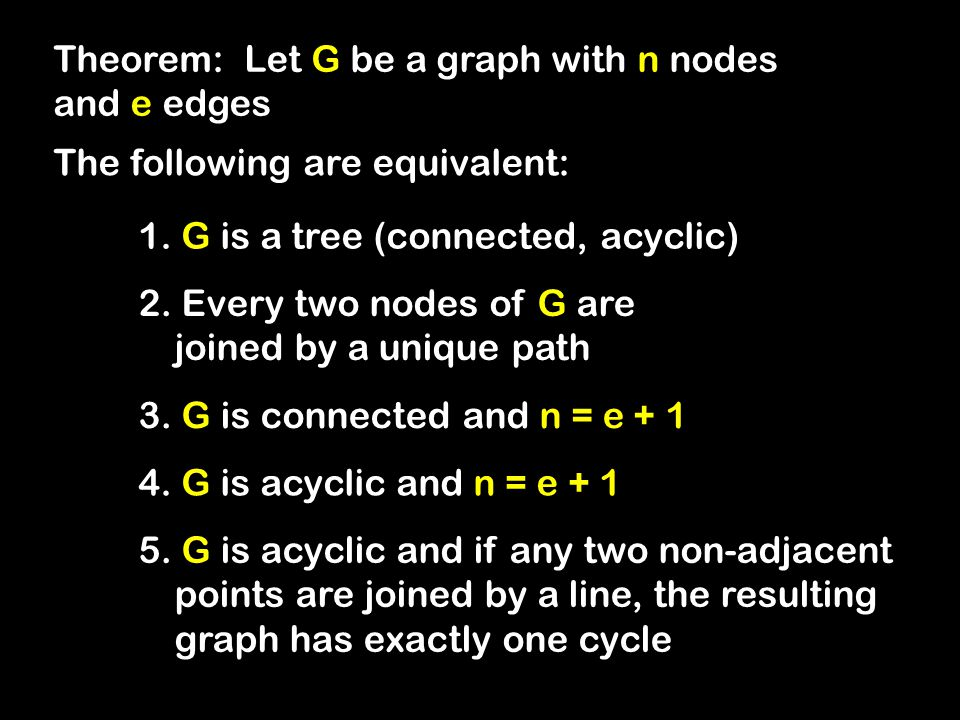 Theorem: Let G be a graph with n nodes and e edges