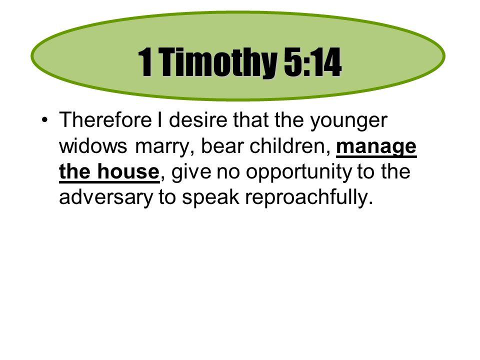 1 Timothy 5:14