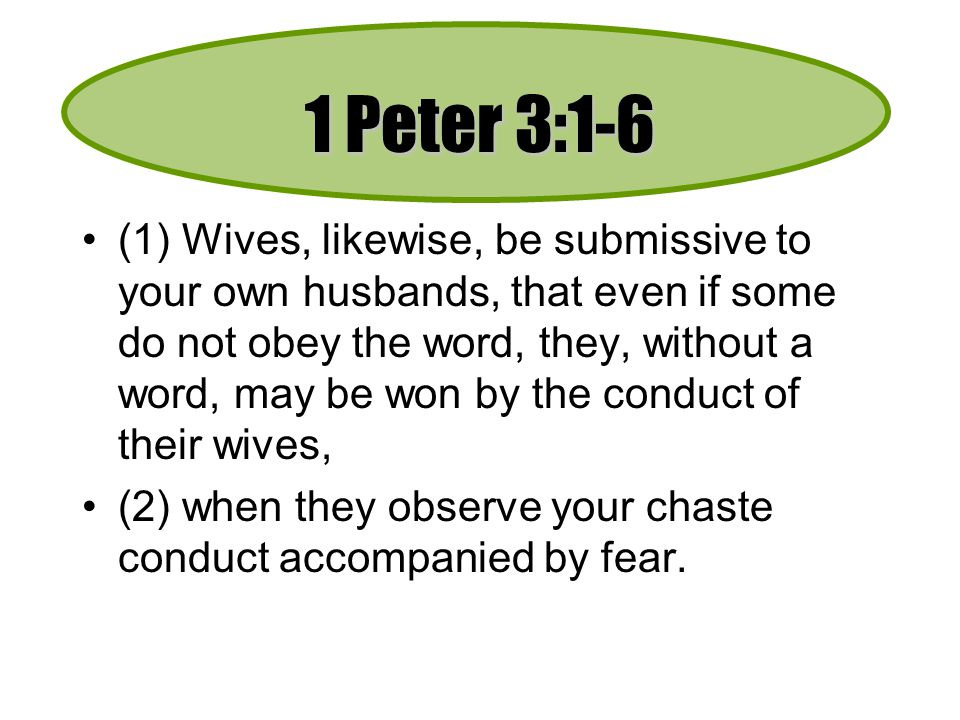 1 Peter 3:1-6