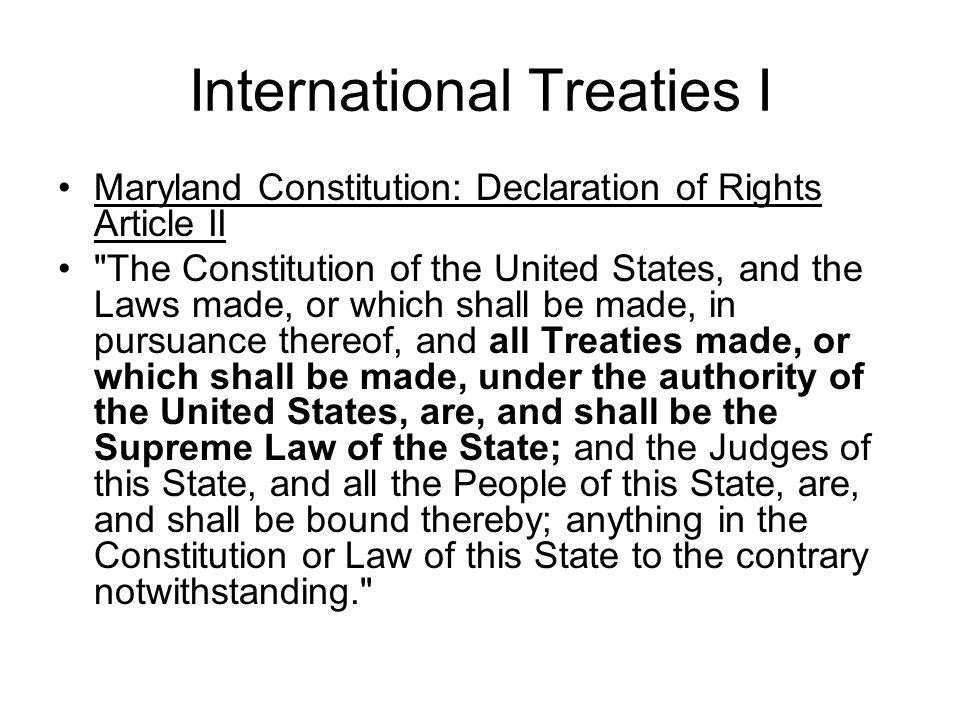 International Treaties I