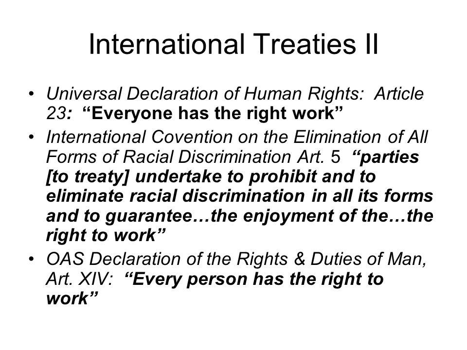 International Treaties II