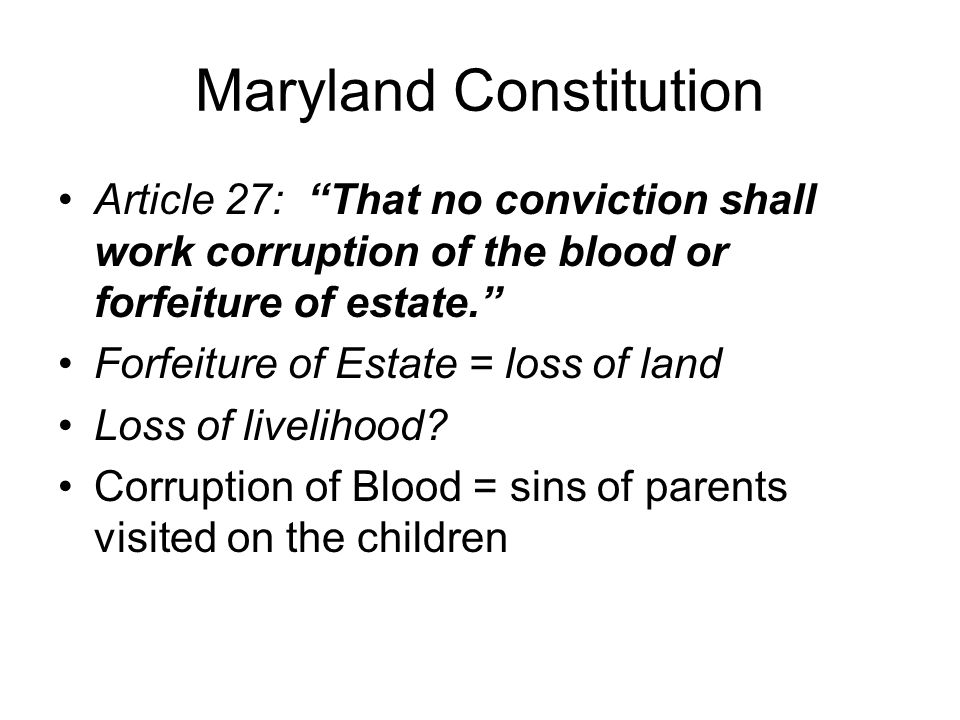 Maryland Constitution