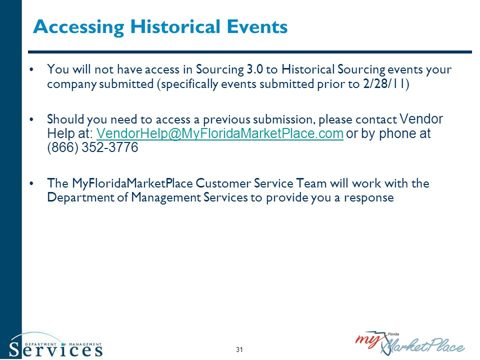 Accessing Historical Events
