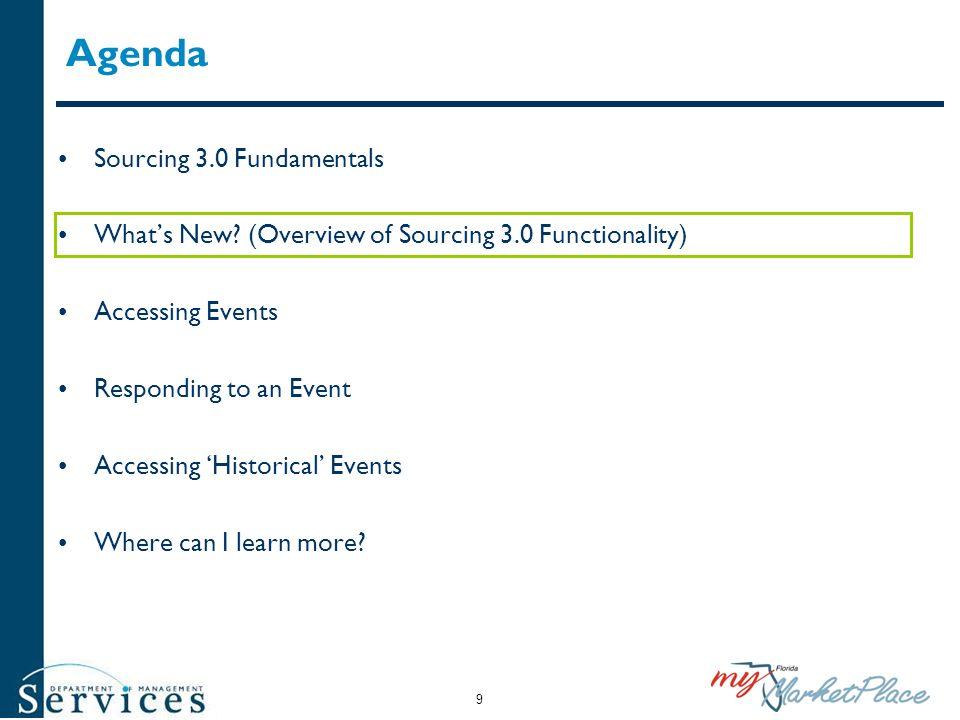 Agenda Sourcing 3.0 Fundamentals
