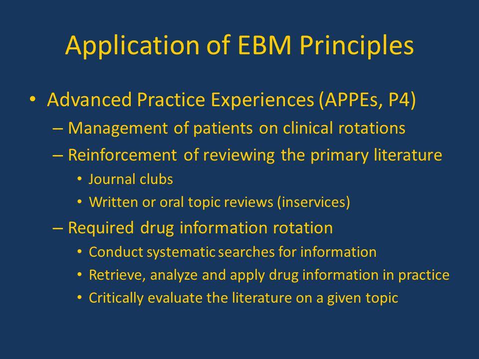 Application of EBM Principles