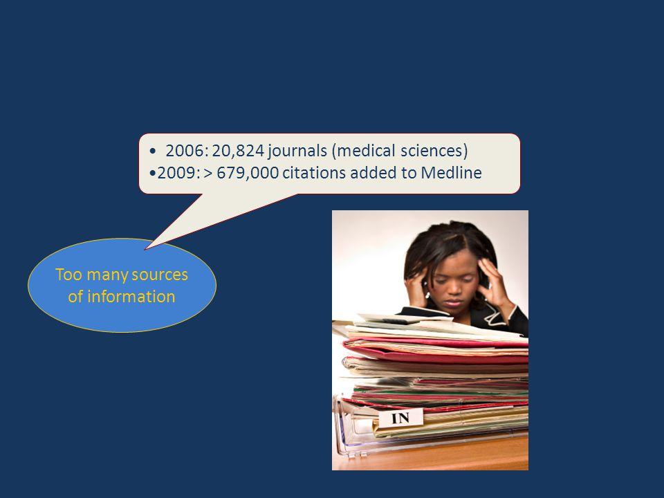 2006: 20,824 journals (medical sciences)