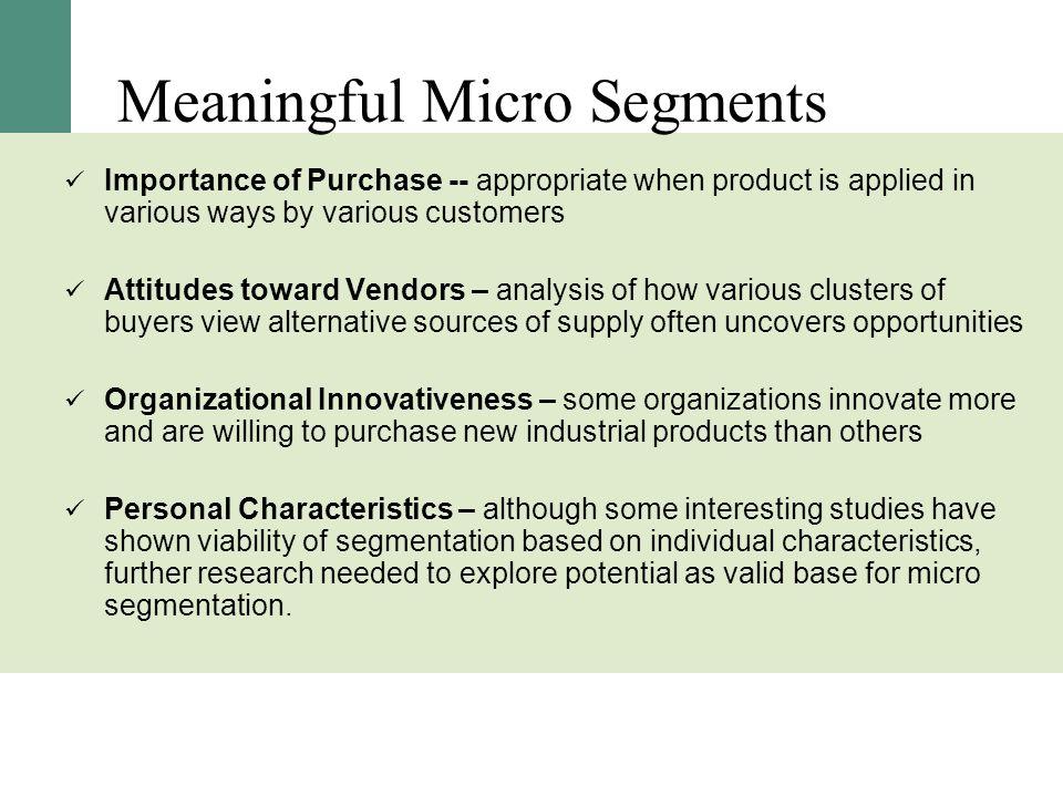 Meaningful Micro Segments