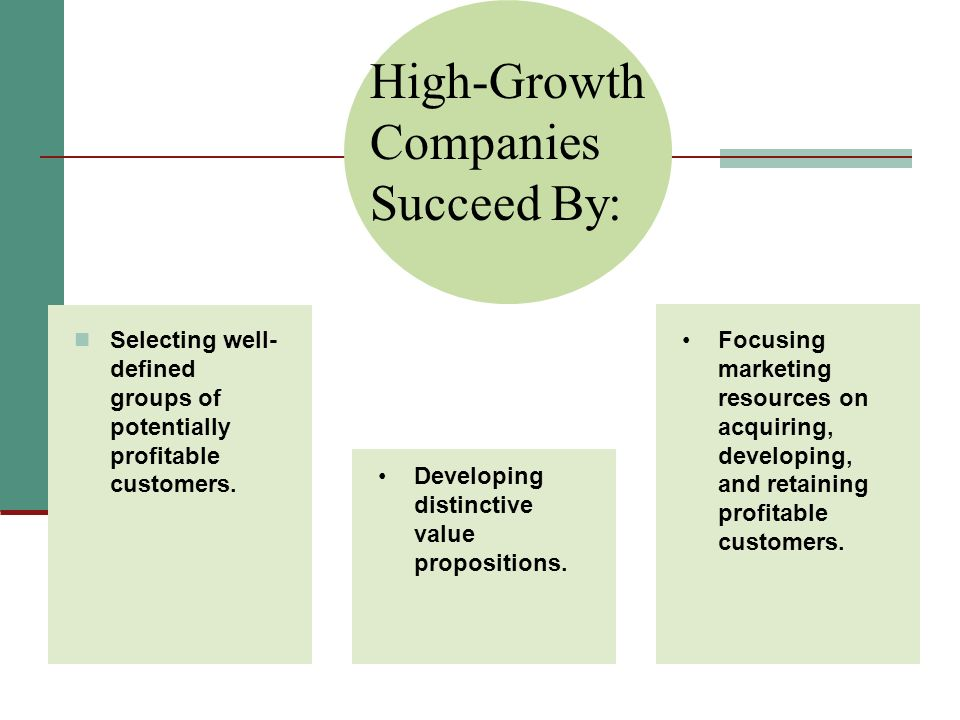 High-Growth Companies Succeed By: