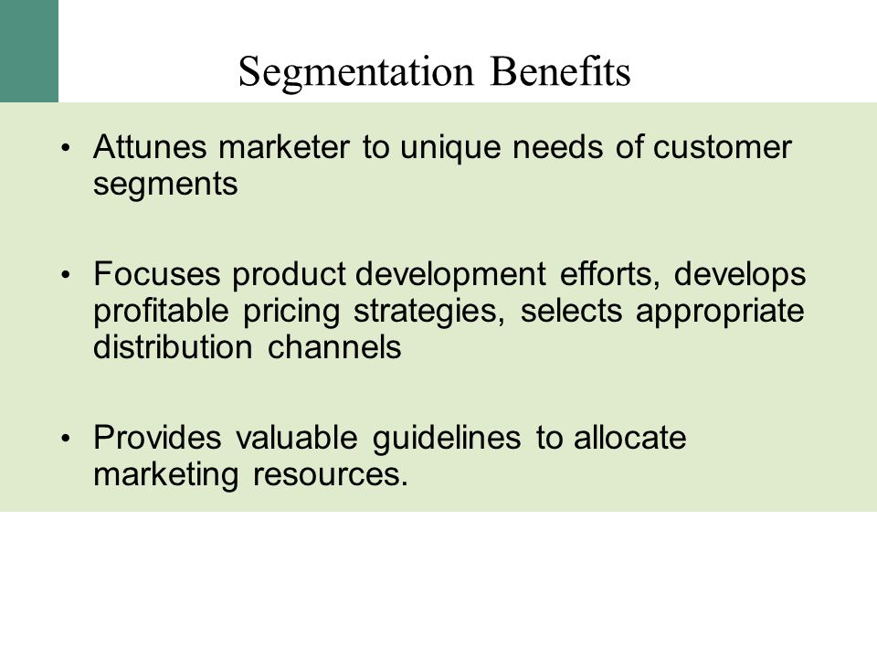 Segmentation Benefits