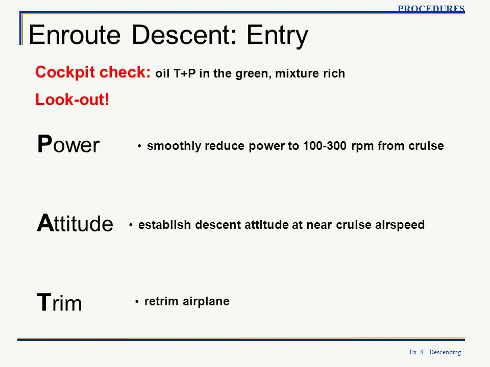 Enroute Descent: Entry