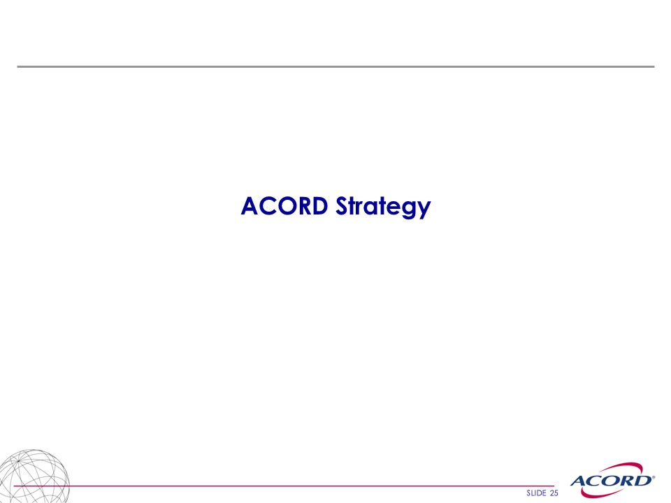 ACORD Strategy