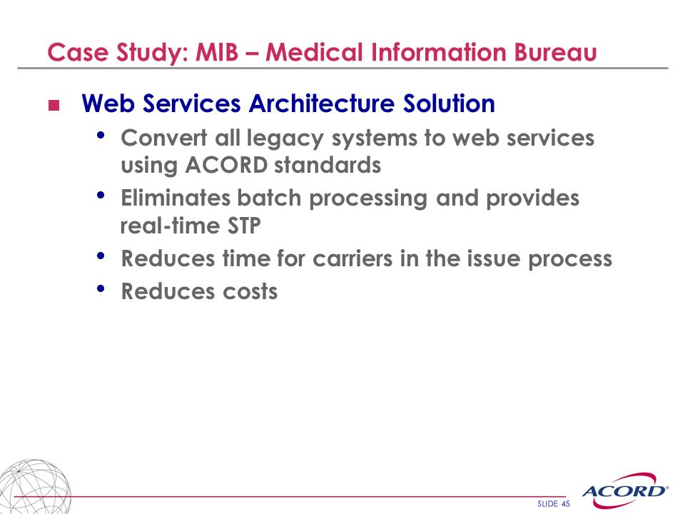 Case Study: MIB – Medical Information Bureau