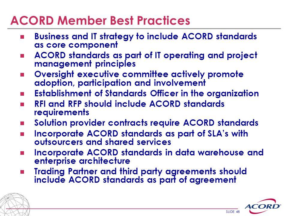 ACORD Member Best Practices