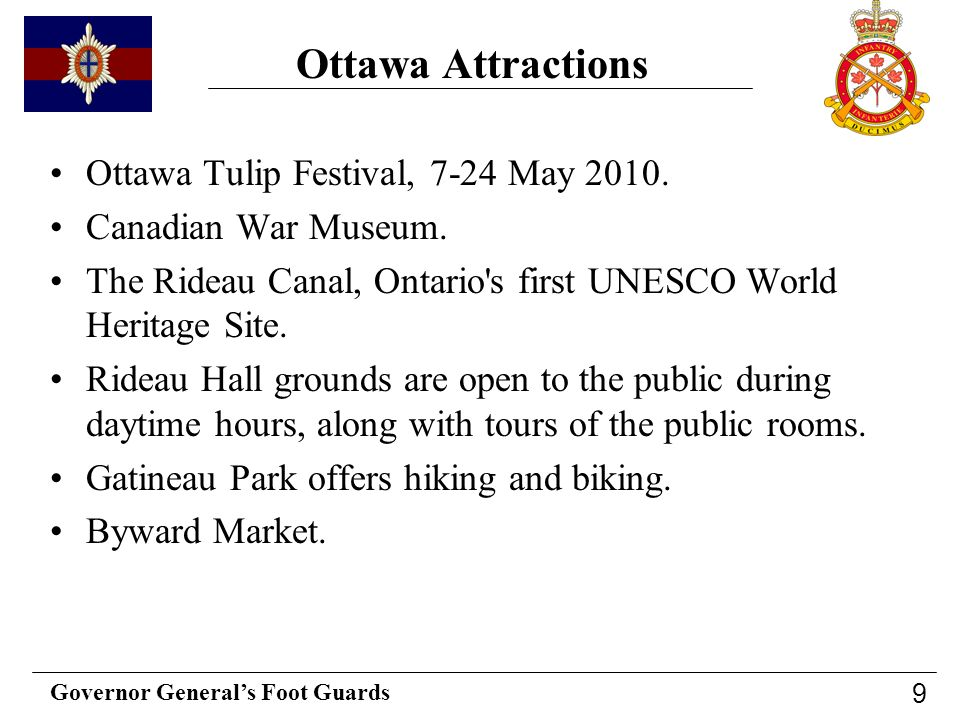 Ottawa Attractions Ottawa Tulip Festival, 7-24 May 2010.