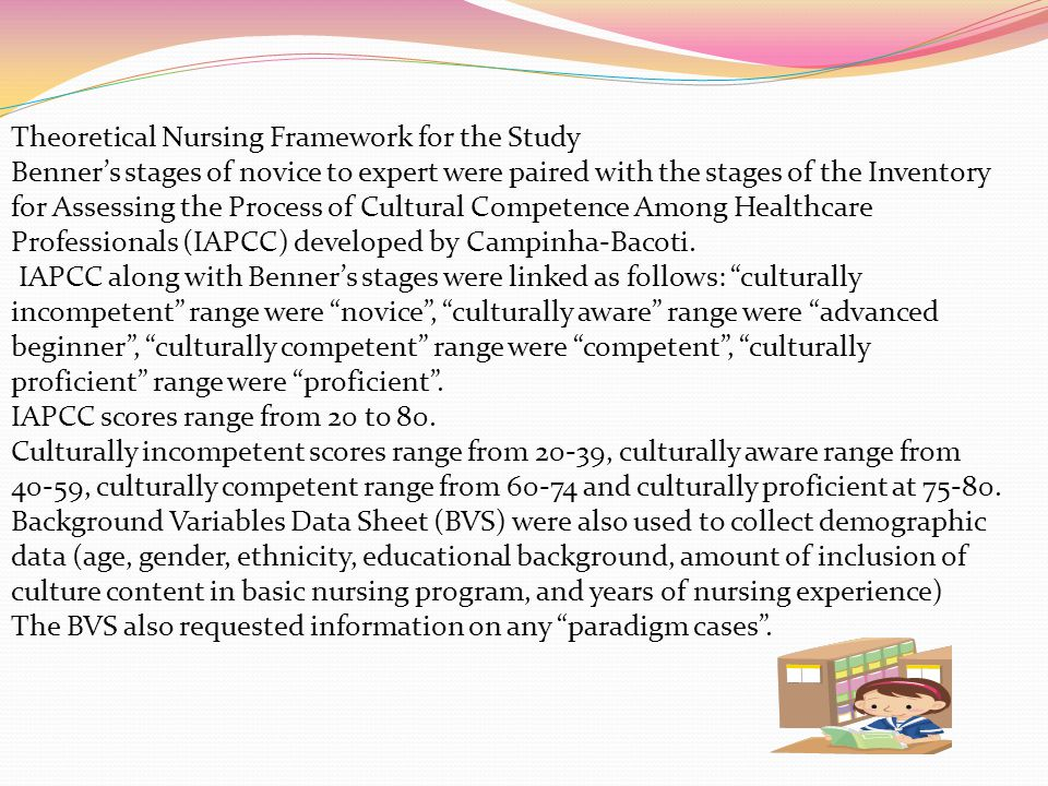 Theoretical Nursing Framework for the Study