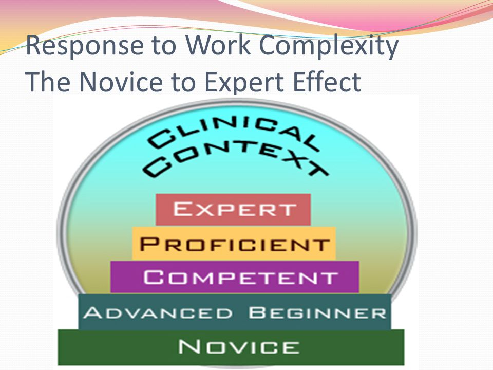 Response to Work Complexity The Novice to Expert Effect