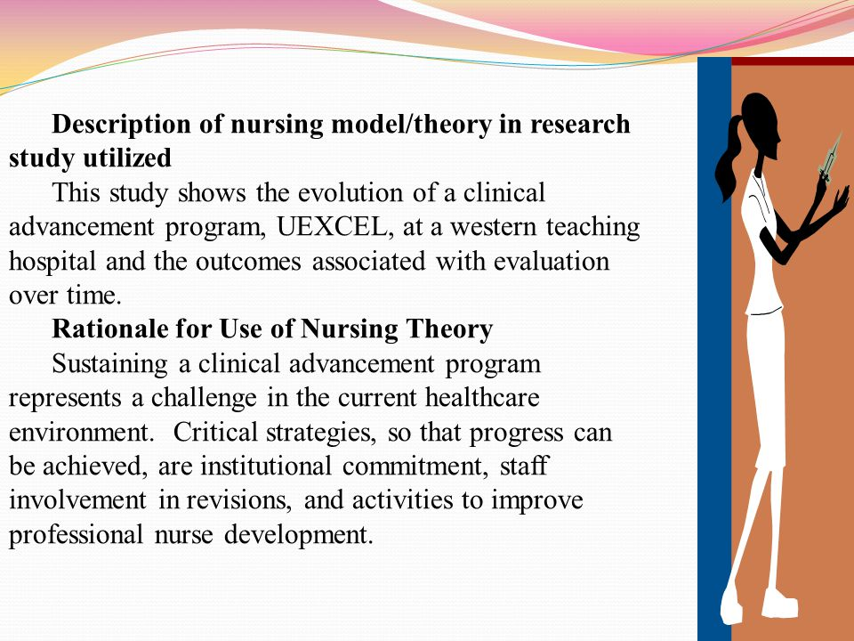 Description of nursing model/theory in research study utilized