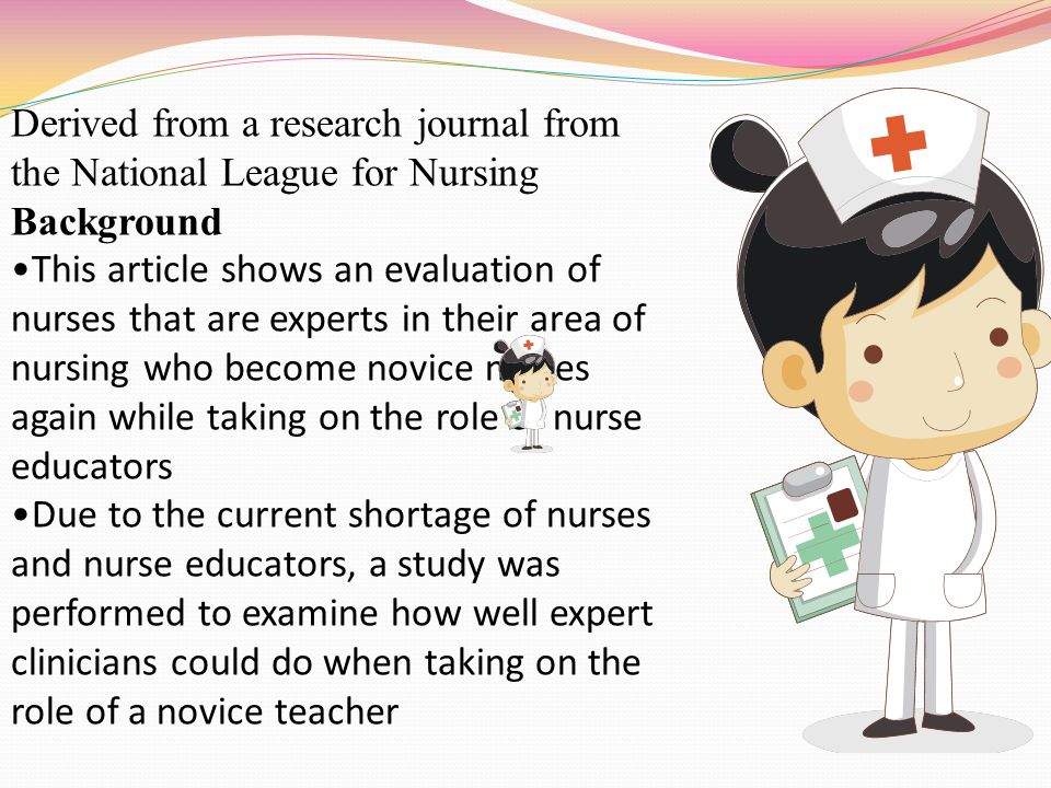 Derived from a research journal from the National League for Nursing