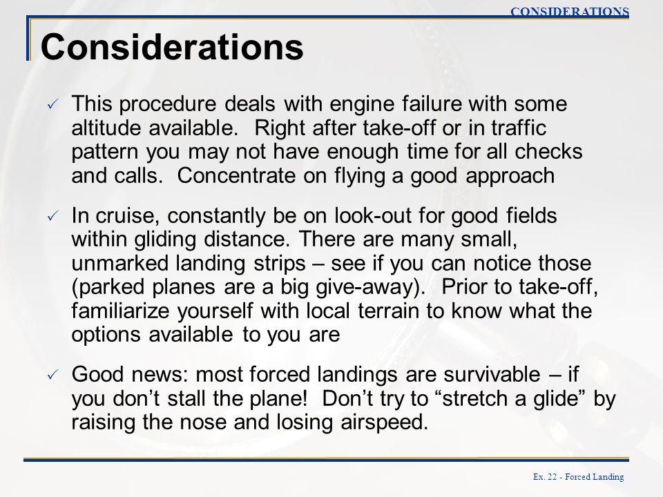 CONSIDERATIONS Considerations.