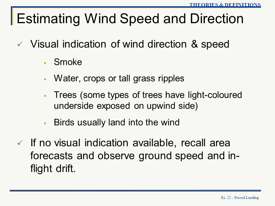 Estimating Wind Speed and Direction