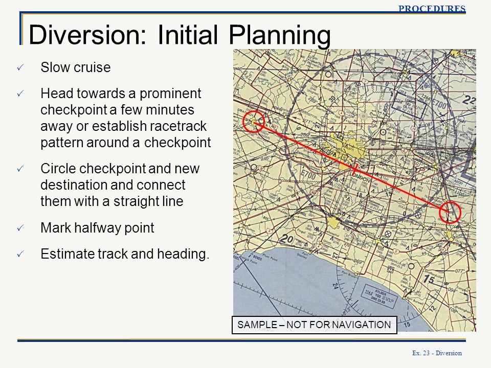Diversion: Initial Planning