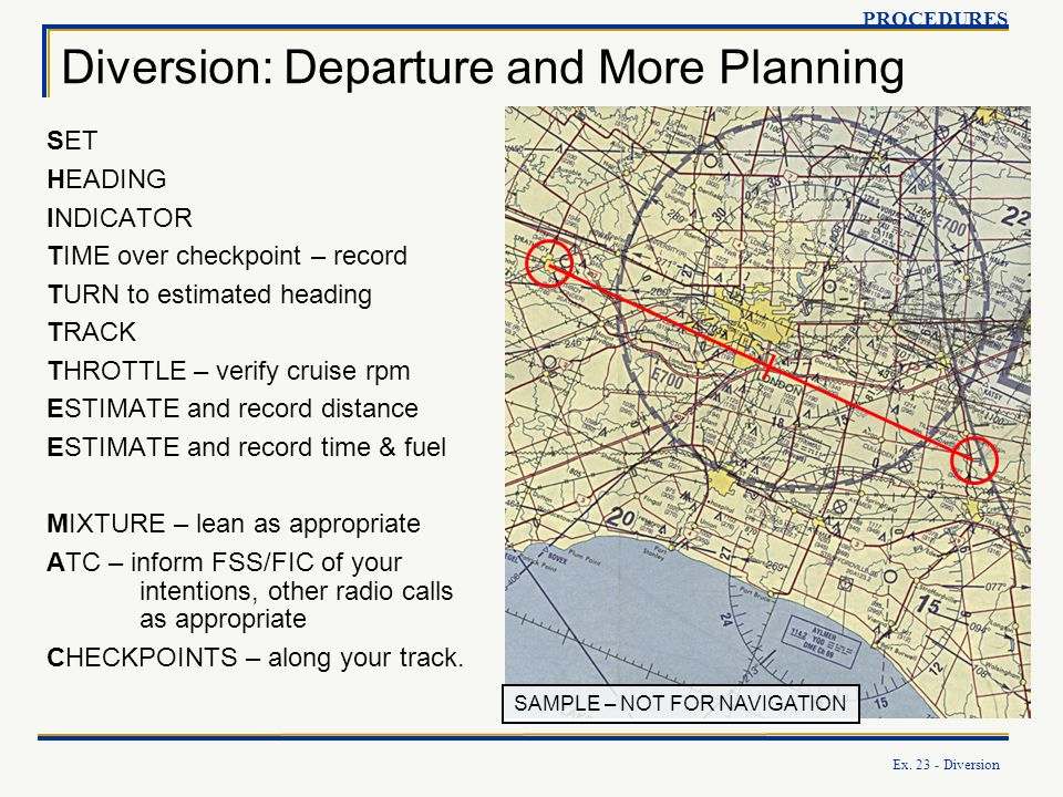 Diversion: Departure and More Planning