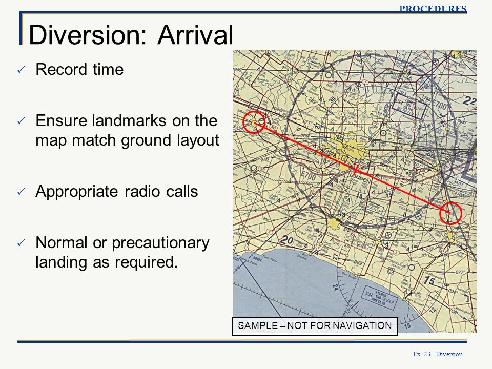 Diversion: Arrival Record time