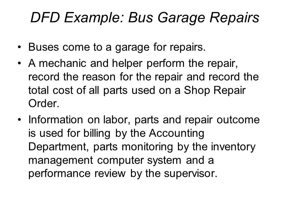 DFD Example: Bus Garage Repairs