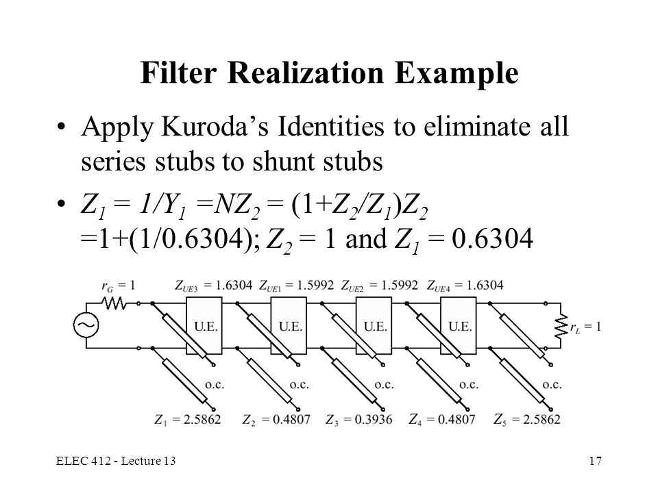 Filter Realization Example