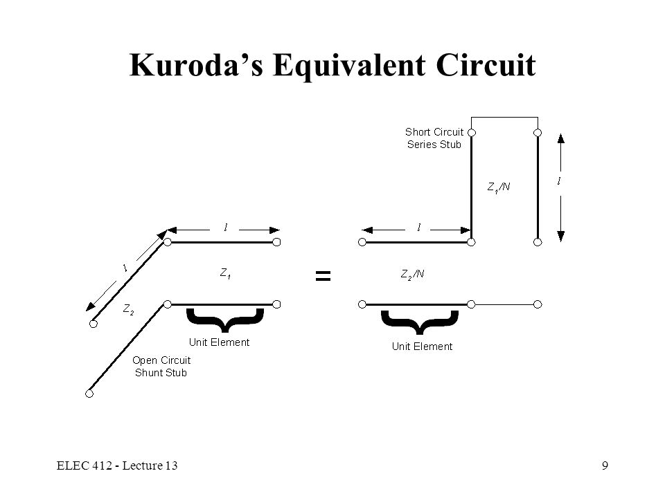 Kuroda's Equivalent Circuit