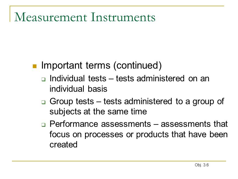Measurement Instruments
