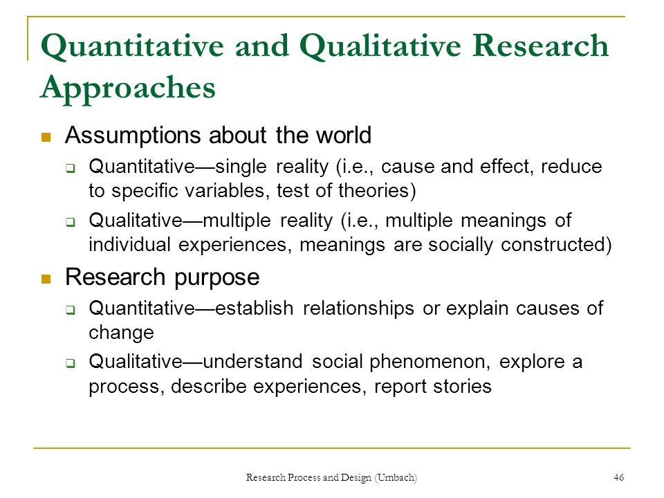 Quantitative and Qualitative Research Approaches