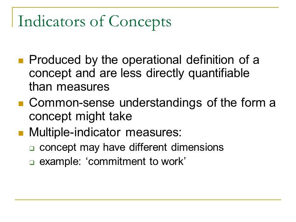 Indicators of Concepts