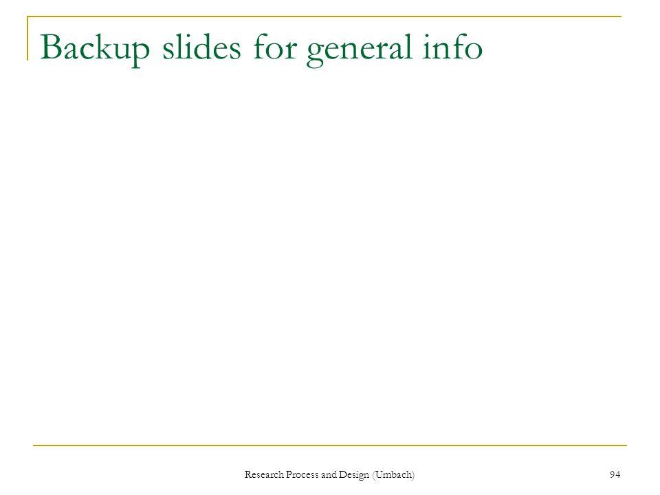 Backup slides for general info