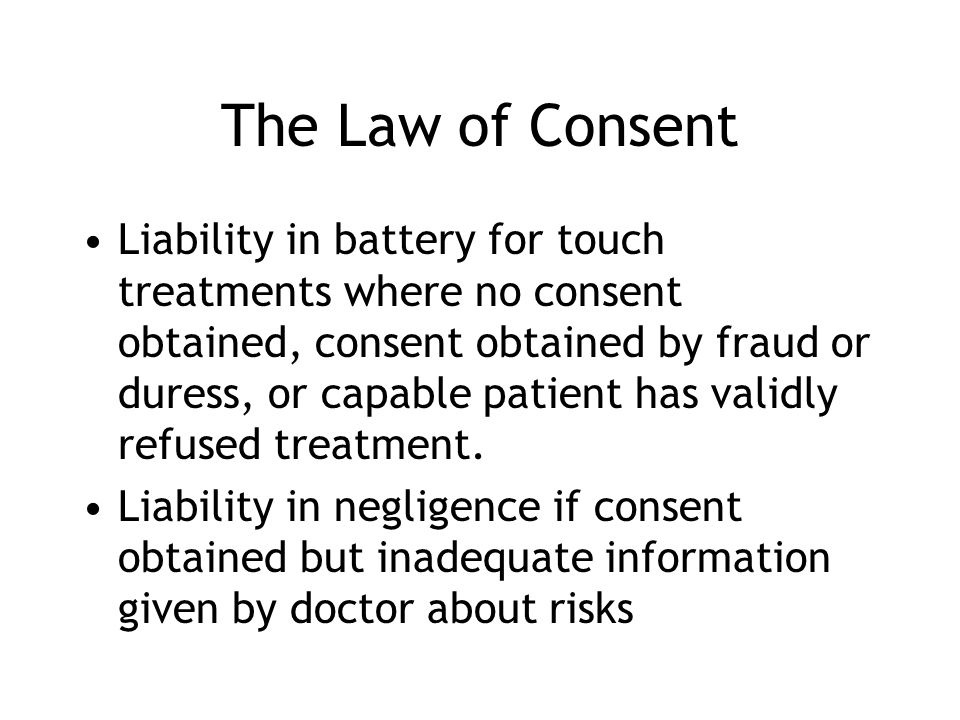 The Law of Consent